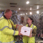 Handing to Flight Crew with Flt Lt Sarah Edgington.