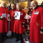 RMP Chelsea Pensioners with their cards